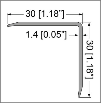 Single Angle Corner Extrusion/12 ft./Pre-Punched