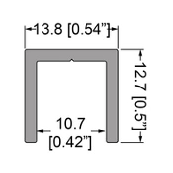"U Channel 3/8""  Extrusion - 12 ft. Cut in half"