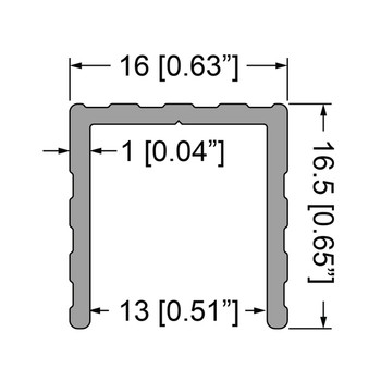 """1/2"""" U-Channel Extrusion - 6 ft."""