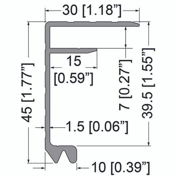 "Lidmaker #1 / Extrusion 1/4"" - 6 ft."
