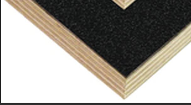 Laminated Birch Ply / 12mm 1/2  / ABS Plastic / BLACK