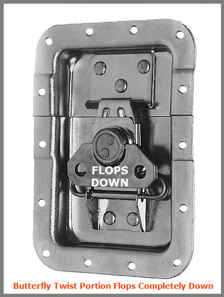Latch / Flop Down / Large / Recessed
