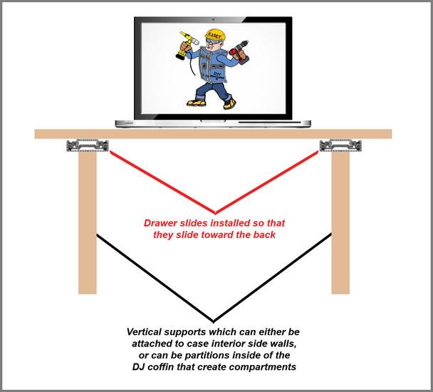 Standard Duty DJ Laptop Horizontal Deck Slides