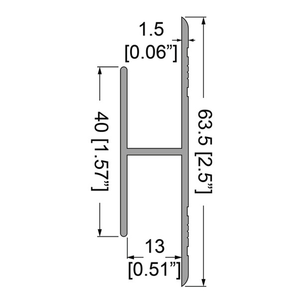 """1/2"""" Lg/ Panel Joiner Splice Extrusion - 6.5 ft."""