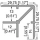 """1/2"""" 13mm Double Angle Corner Extrusion - 6.5 ft."""