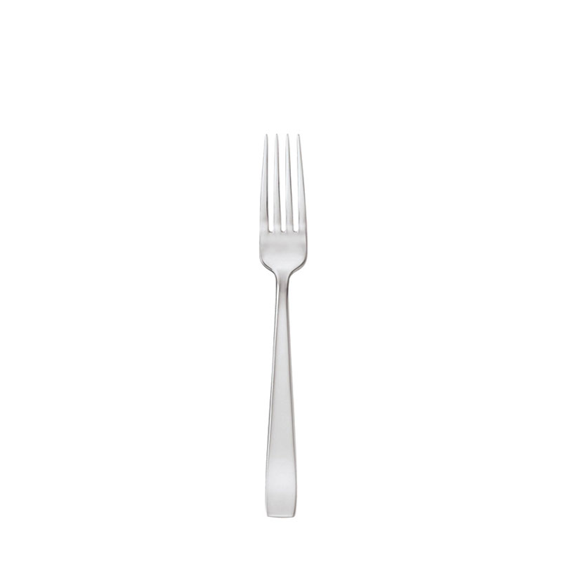 Sambonet Flat dinner fork on white background.