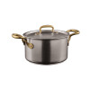 thumbnail image of 1965 Cookware 18/10 Stainless Steel Saucepan with Lid, 2 handles, 7 7/8 inch, 128 ounce