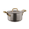 thumbnail image of 1965 Cookware 18/10 Stainless Steel Saucepan with Lid, 2 handles, 6 1/4 inch, 64 ounce
