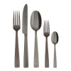 thumbnail image of Flat Black 18/10 Stainless Steel PVD finishing 5 pcs Place Setting, solid handle