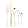 thumbnail image of Flat Champagne 18/10 Stainless Steel PVD finishing 5 pcs Place Setting, solid handle