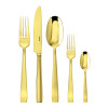 thumbnail image of Flat Gold 18/10 Stainless Steel PVD finishing 5 pcs Place Setting, solid handle