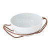 thumbnail image of New Living Hi-Tech Copper / Porcelain Round Spaghetti dish set, 10 1/2 x 5 inch
