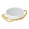 thumbnail image of New Living Hi-Tech Gold / Porcelain Round Spaghetti dish set, 10 1/2 x 5 inch