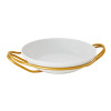 thumbnail image of New Living Hi-Tech Gold / Porcelain Round rice dish set, 14 1/4 x 3 1/2 inch