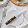 thumbnail image of Steak Knives Stainless Steel & Wood Sirloin Steak Knife, non-serrated, 9 1/2 inch