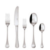 thumbnail image of Queen Anne Silverplated 5 Pcs Place Setting (solid handle knife)
