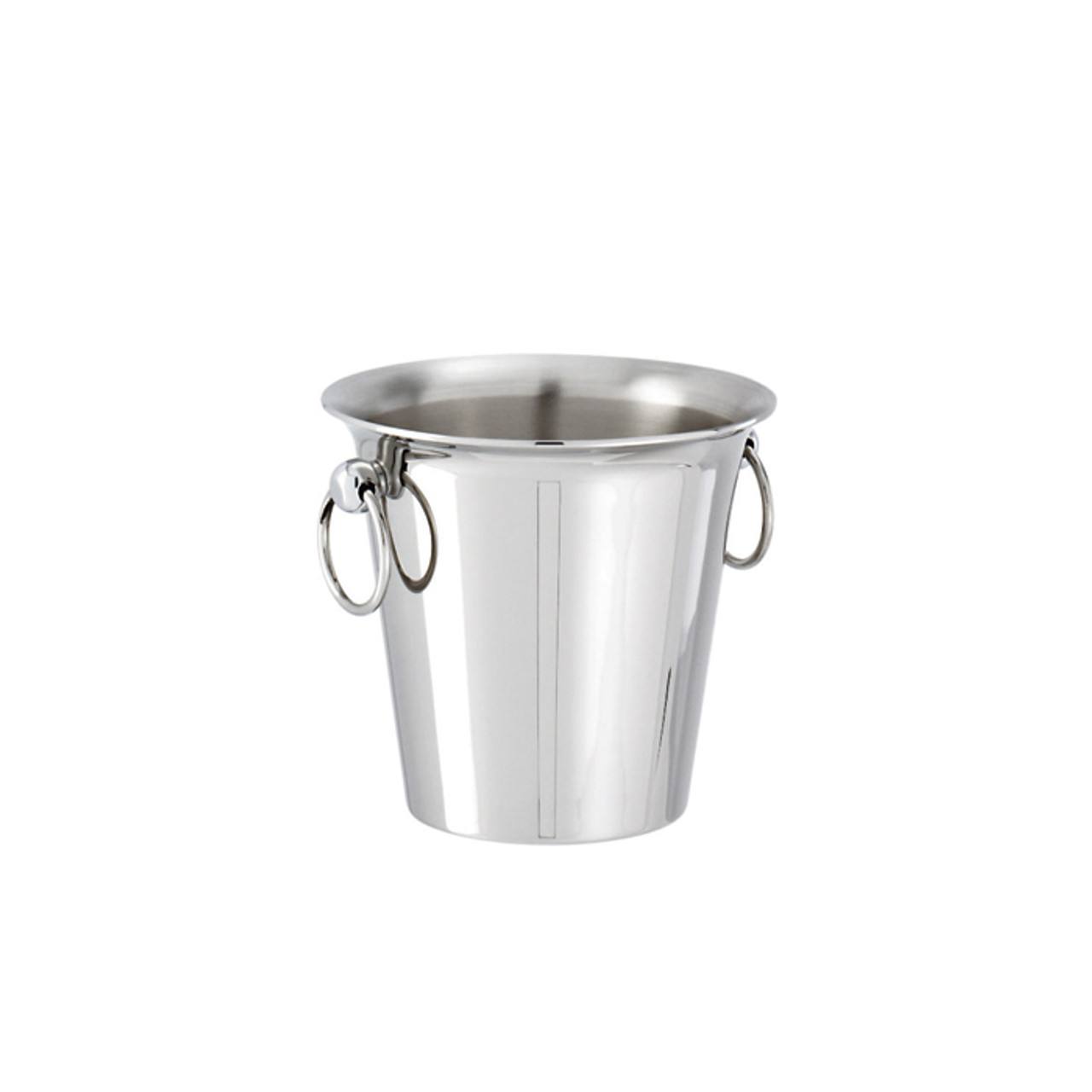 """7/"""" Metal Metal Ice Bucket with 6/"""" Metal Tongs"""
