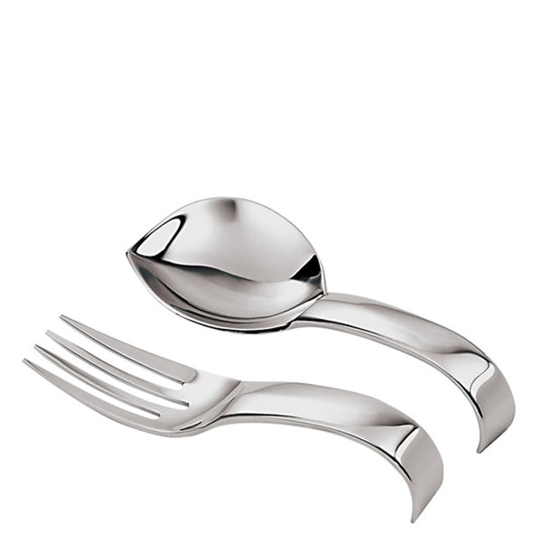 Sambonet Living Monoportion spoon & fork Set, giftboxed, 4 3/4 inch