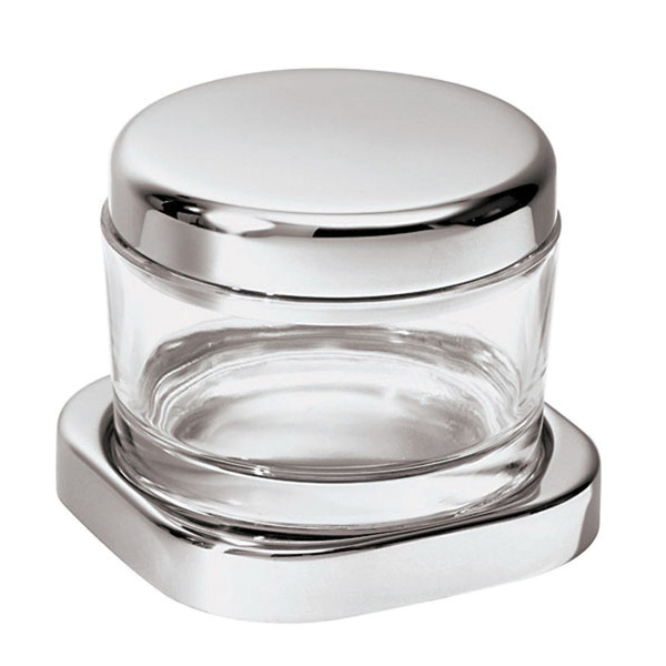 Sambonet Linear Grated cheese pot with crystal, 3 7/8 inch