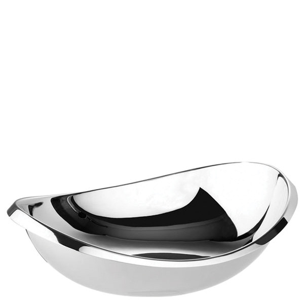 Twist Stainless Steel Oval bowl, 11 3/4 inch