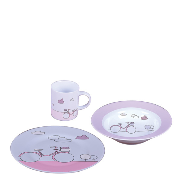 Sambonet Kids Set Pink Bike 3 pcs Baby Set