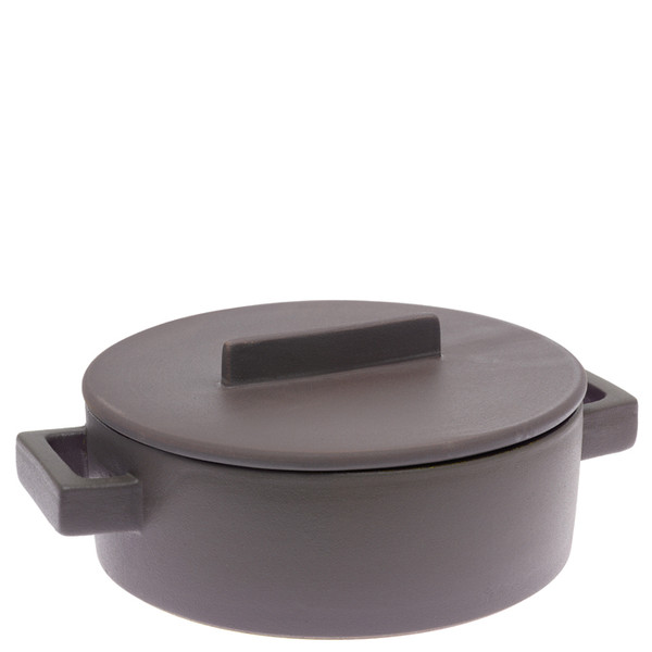 Sambonet Terra Cotto Casserole pot, 2 handles with lid, Nutmeg