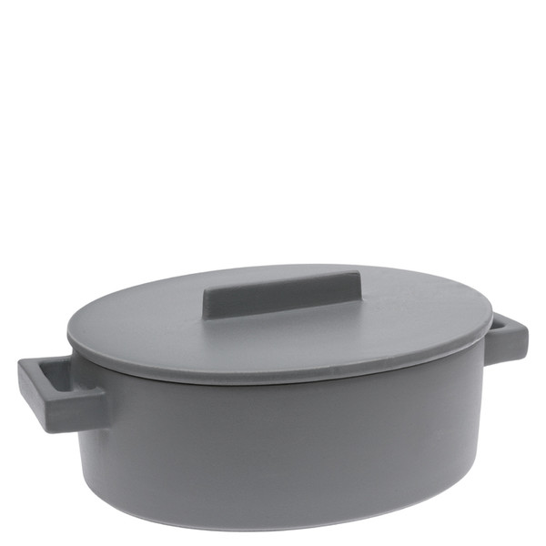write a review for Sambonet Terra Cotto Oval saucepot, 2 handles with lid, Pepper