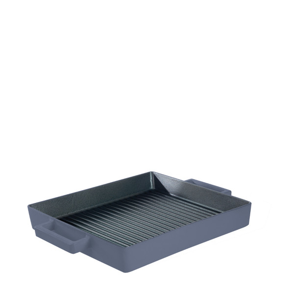 Sambonet Terra Cotto Cast Iron Square Grill Pan, Myrtle, 10 1/4 inch