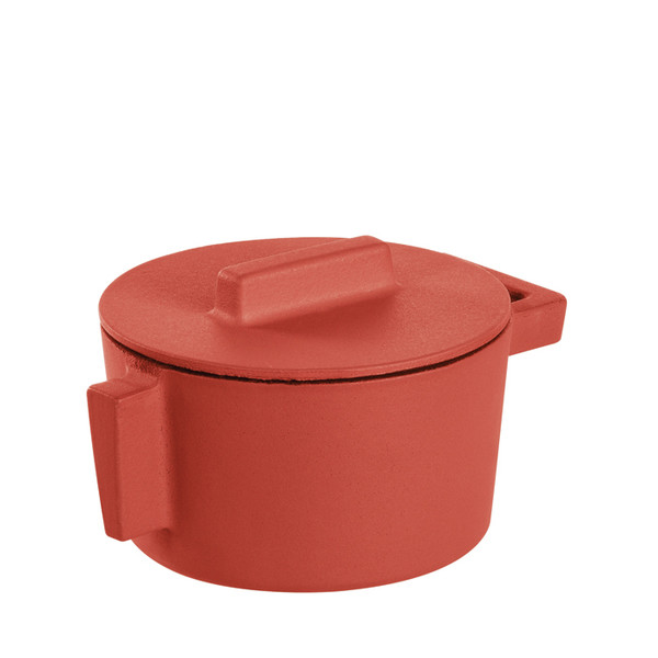 write a review for Sambonet Terra Cotto Cast Iron Saucepot with Lid, Paprika, 4 inch, 10 ounce