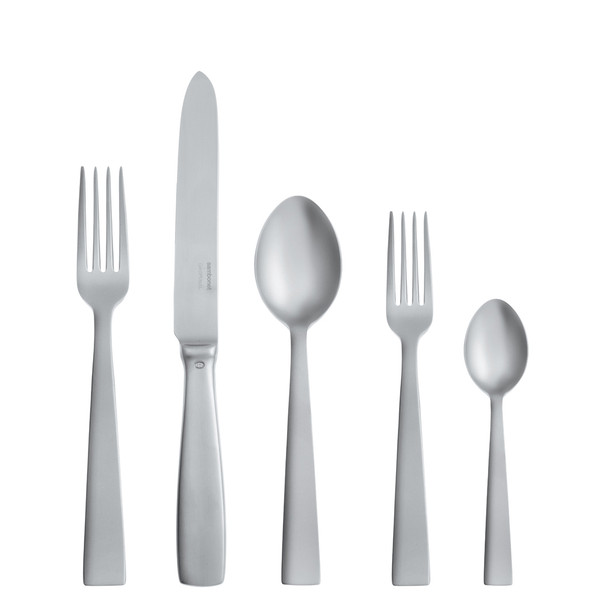 Gio Ponti Antico 18/10 Stainless Steel 5 pcs Place Setting, solid handle
