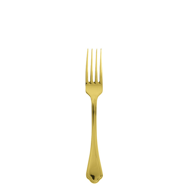 Sambonet Filet Toiras Gold Table Fork, 8 1/4 inch