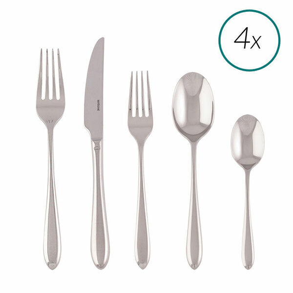 Dream 18/10 Stainless Steel 20 Pcs Place Setting