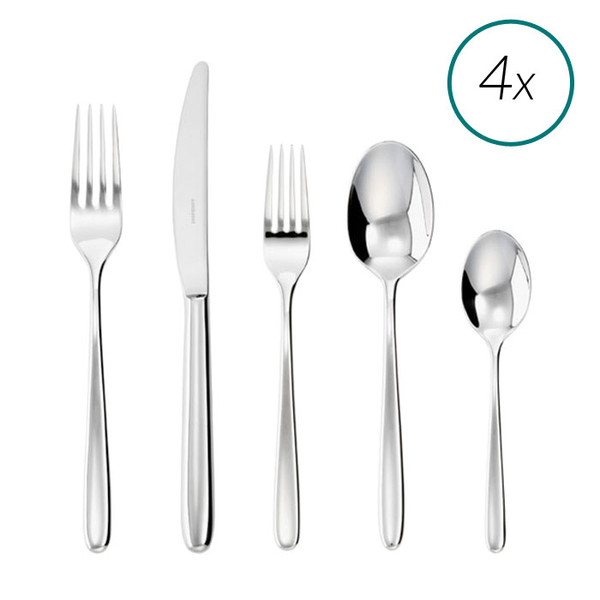 Hannah 18/10 Stainless Steel 20 Pcs Place Setting