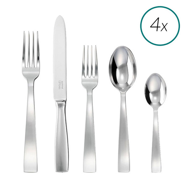 Gio Ponti 18/10 Stainless Steel 20 Pcs Place Setting