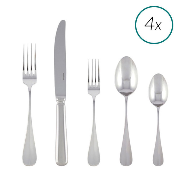 Baguette 18/10 Stainless Steel 20 Pcs Place Setting