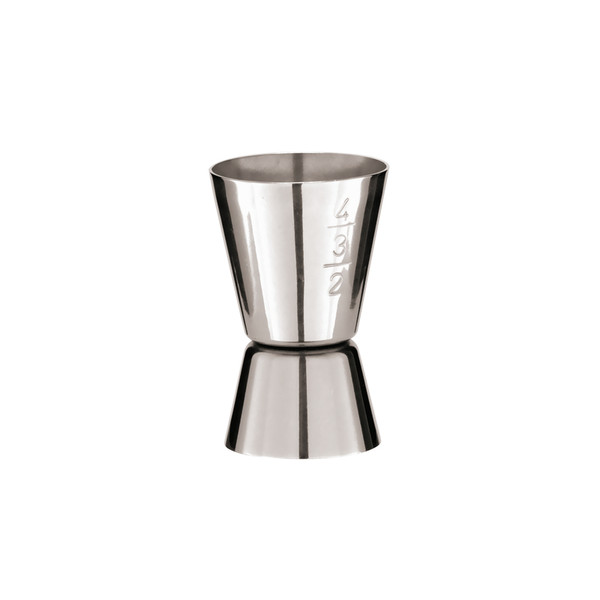 Bar Elite 18/10 Stainless Steel Cocktail measuring cup double