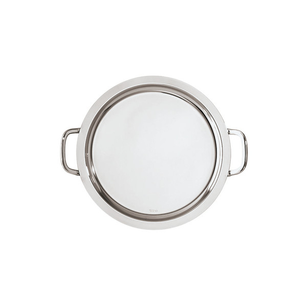 Bar Elite 18/10 Stainless Steel Round tray with handles, 15 3/4 inch