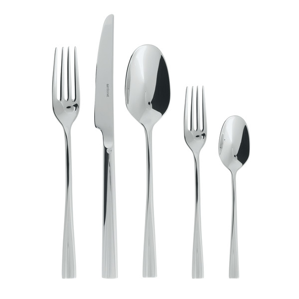 Even 18/10 Stainless Steel 5 pcs Place Setting, solid handle