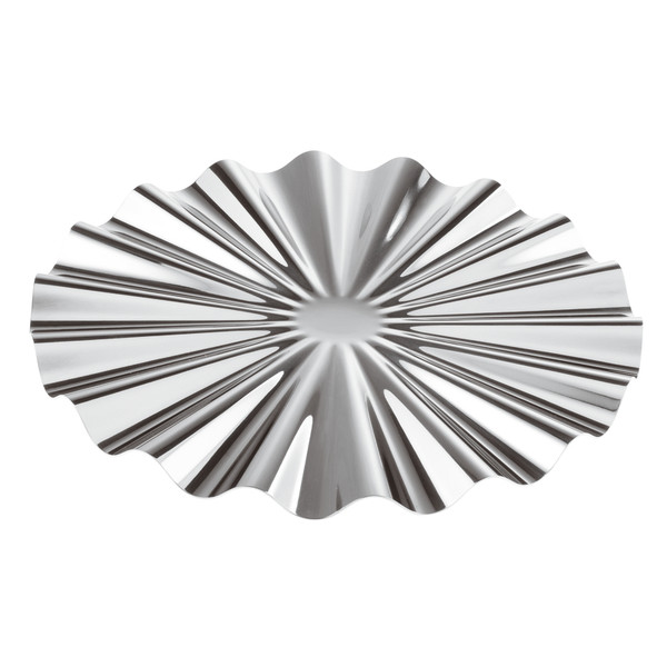 Kyma Silverplated on 18/10 Stainless Steel Show Plate, 12 1/4 x 5/8 inch
