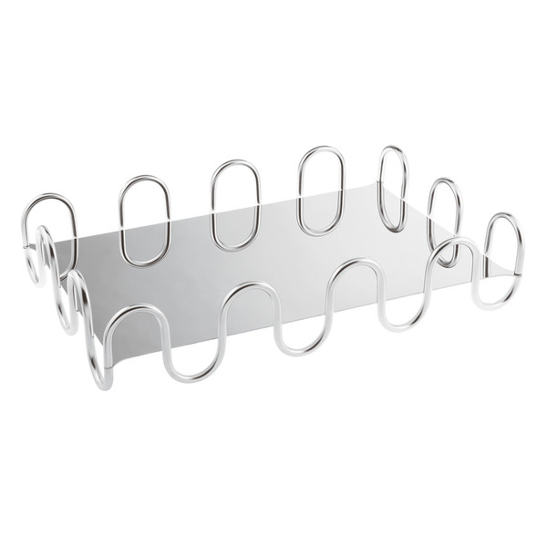 Kyma Inox Stainless Steel Rectangle Design Object, 16 1/8 x 10 1/4 x 3 3/8 inch