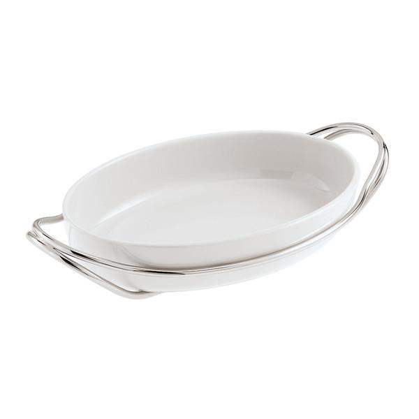 New Living Mirror / Porcelain Oval porcelain dish set, 15 1/4 x 10 1/2 x 3 inch