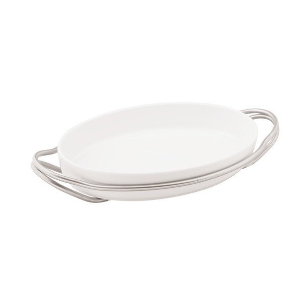 New Living Antico / Porcelain Oval porcelain dish set, 15 1/4 x 10 1/2 x 3 inch