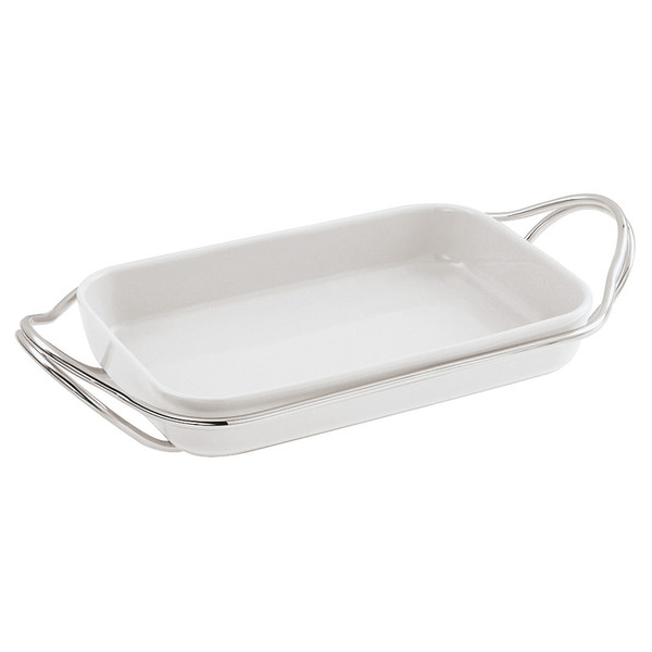write a review for New Living Mirror / Porcelain Rectangular porcelain dish set, 13 3/4 x 8 1/2 x 2 1/2 inch