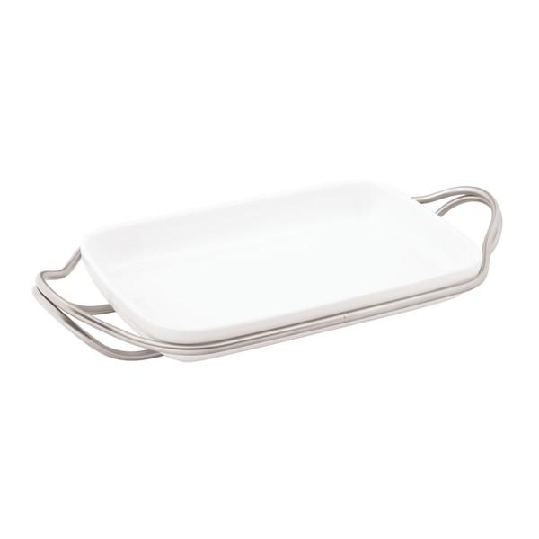 New Living Antico / Porcelain Rectangular porcelain dish set, 16 x 10 1/2 x 2 3/4 inch