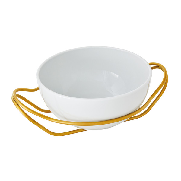 write a review for New Living Hi-Tech Gold / Porcelain Round Spaghetti dish set, 10 1/2 x 5 inch