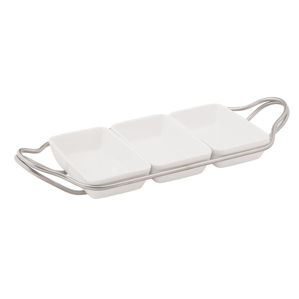write a review for New Living Antico / Porcelain Rectangular hors d'oeuvre tray set, 14 1/4 x 7 x 2 1/4 inch