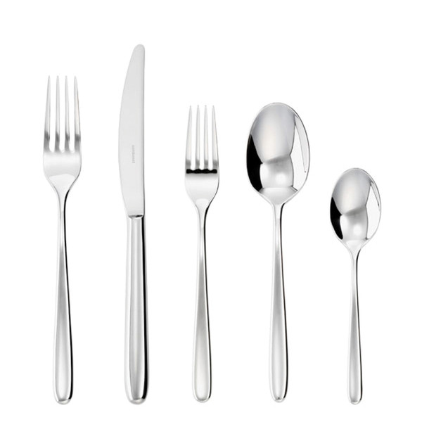 Hannah Silverplated 5 Pcs Place Setting (solid handle knife)