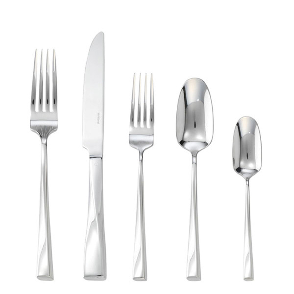Twist Silverplated 5 Pcs Place Setting (solid handle knife)
