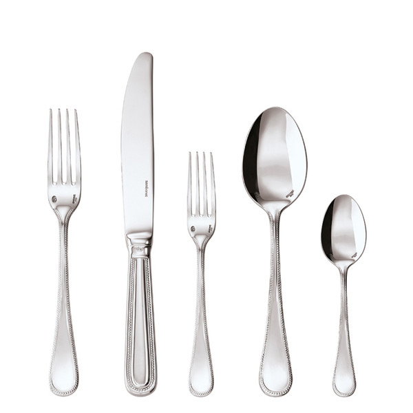 Perles Silverplated 5 Pcs Place Setting (hollow handle knife)