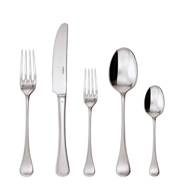 Queen Anne Silverplated 5 Pcs Place Setting (solid handle knife)